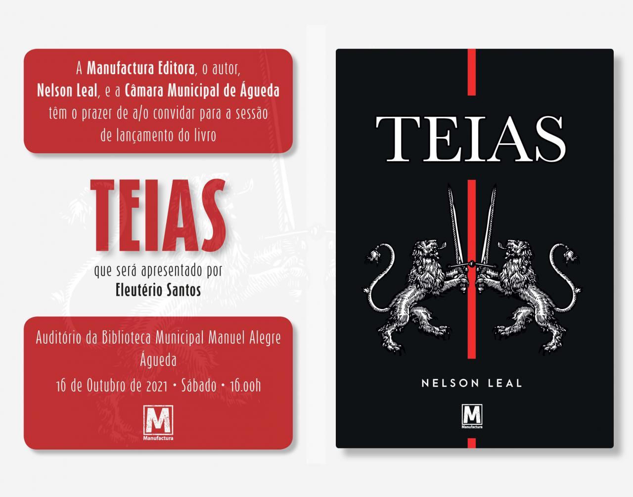 """Lançamento de Livro """"Teias"""" de Nelson Leal"""